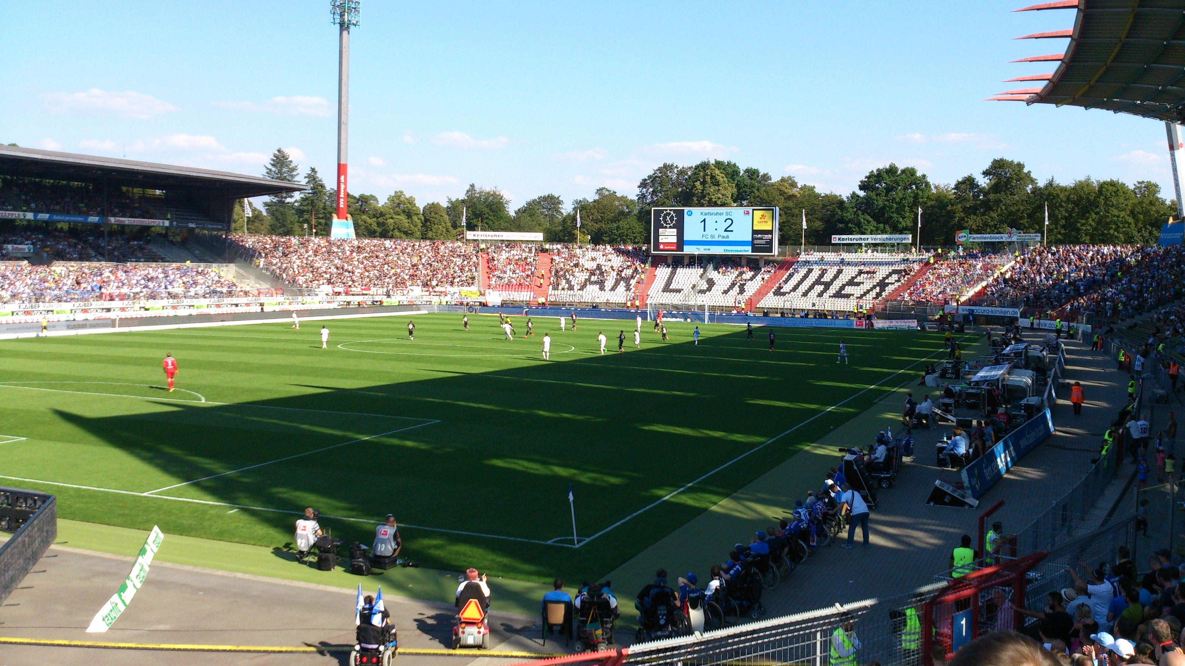 Spielsituation im Millerntor Stadion