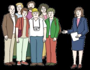 Reisegruppe bei Führung