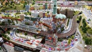 Ausschnitt von Hamburg im Miniatur Wunderland