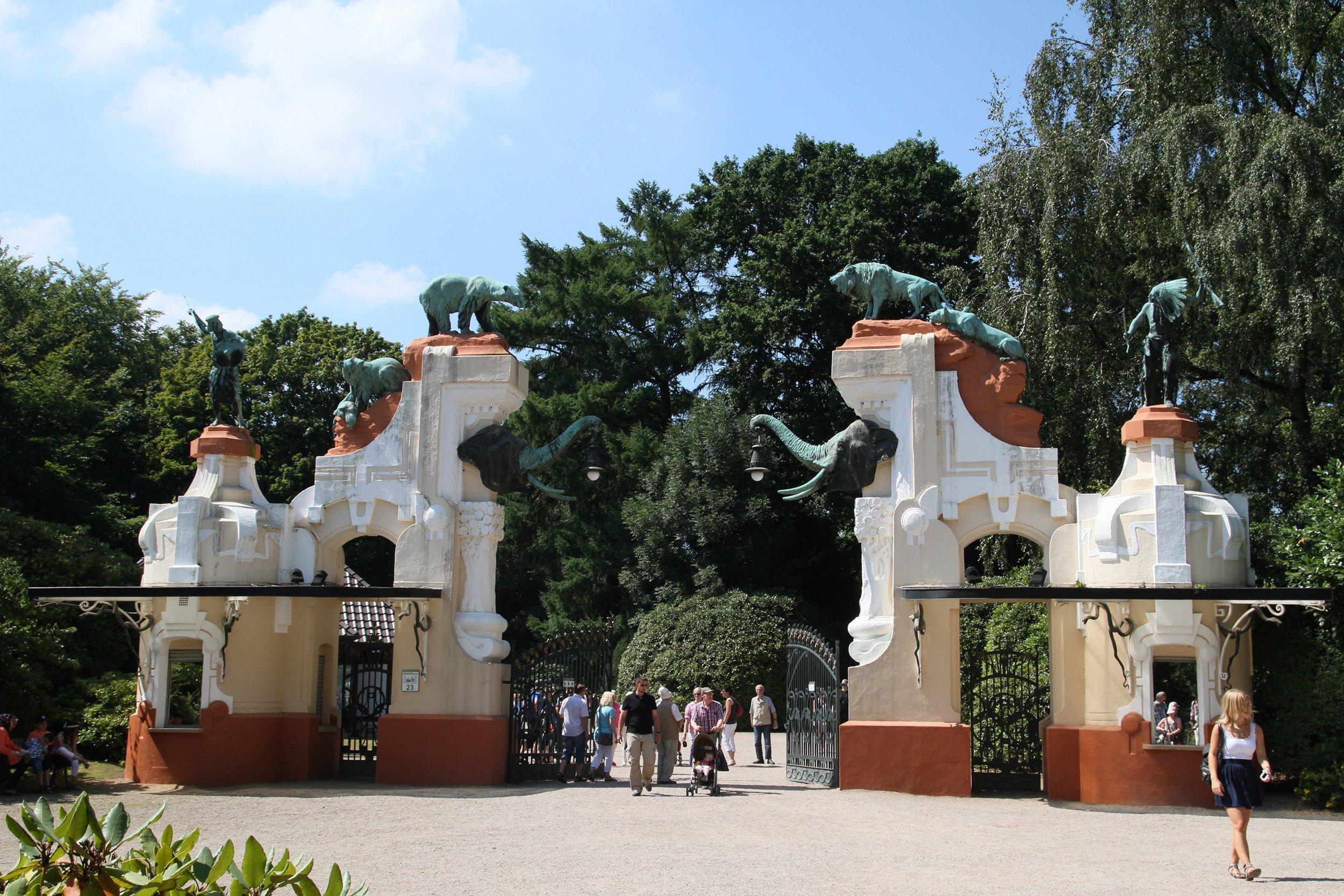 Historisches Tor Eingang Hagenbeck