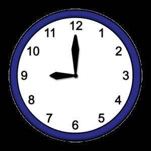 Uhrzeit: 9